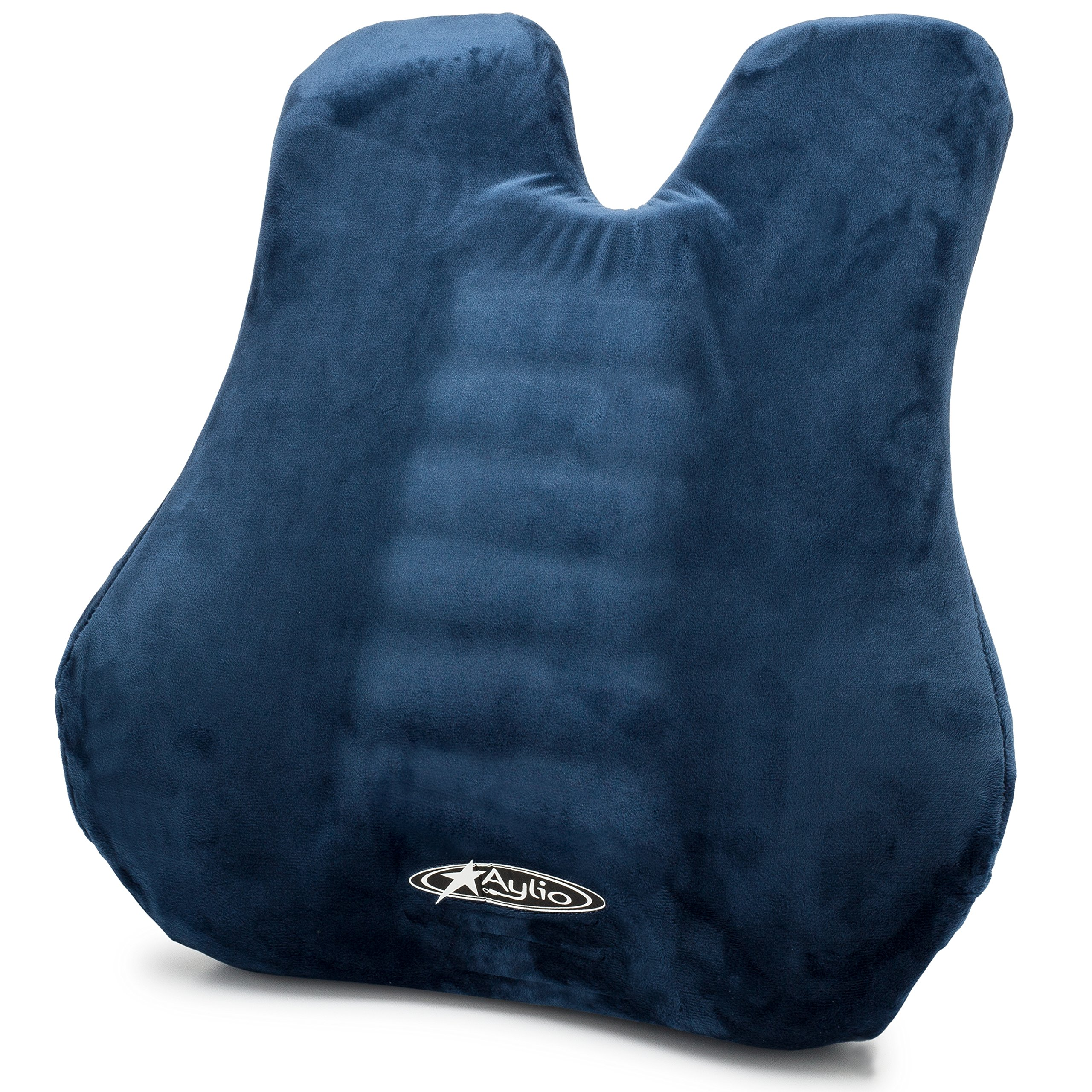 Aylio Back Cushion | Memory Foam Lumbar Support Pillow for Home, Car Seat and Office Chair by Aylio