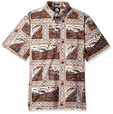 d93f80ee Reyn Spooner Men's Molokai to Oahu Spooner Kloth Classic Fit Pullover Shirt  at Amazon Men's Clothing store: