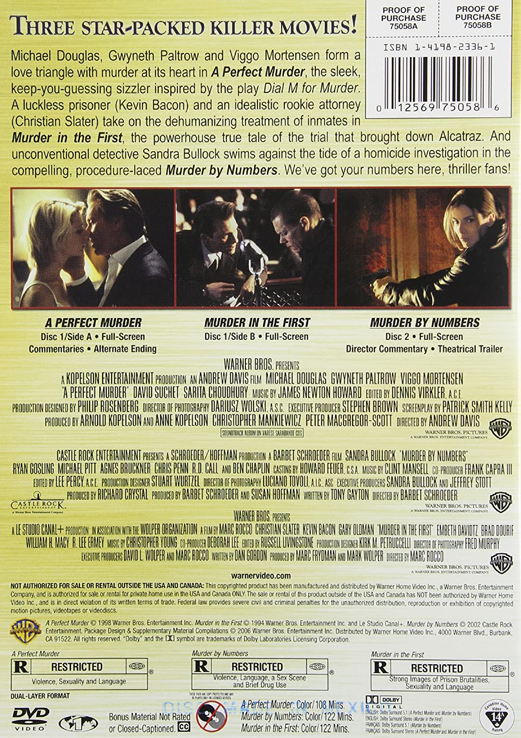 Amazon.com: A Perfect Murder / Murder by Numbers / Murder in the ...
