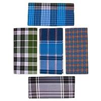 DM COOL COTTON Men's Cotton Lungies - Pack of 5 (Multicolour_Free Size)
