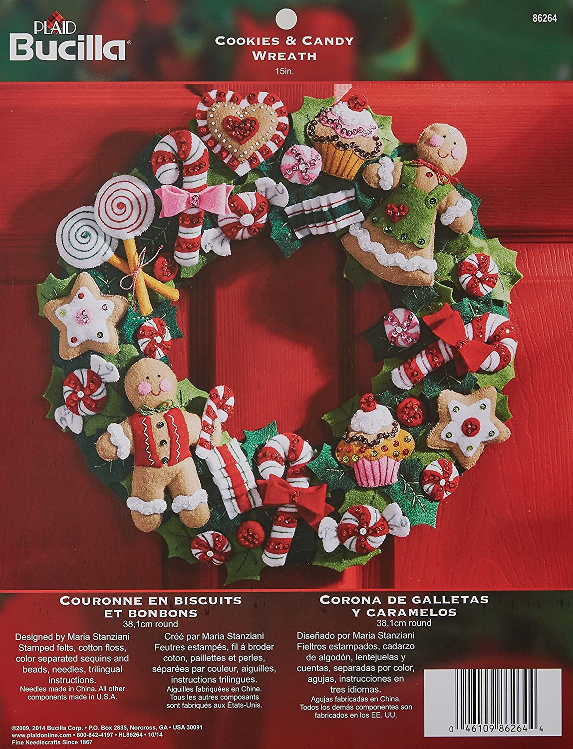 Bucilla festive felt wreath kit for Christmas
