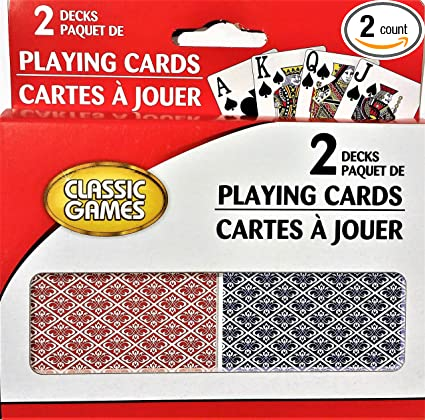 Amazon.com: Juegos clásicos Playing Cards, impresión grande ...