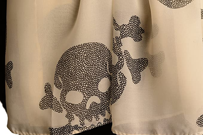 Beige With Marble Skull and Bones SF002400