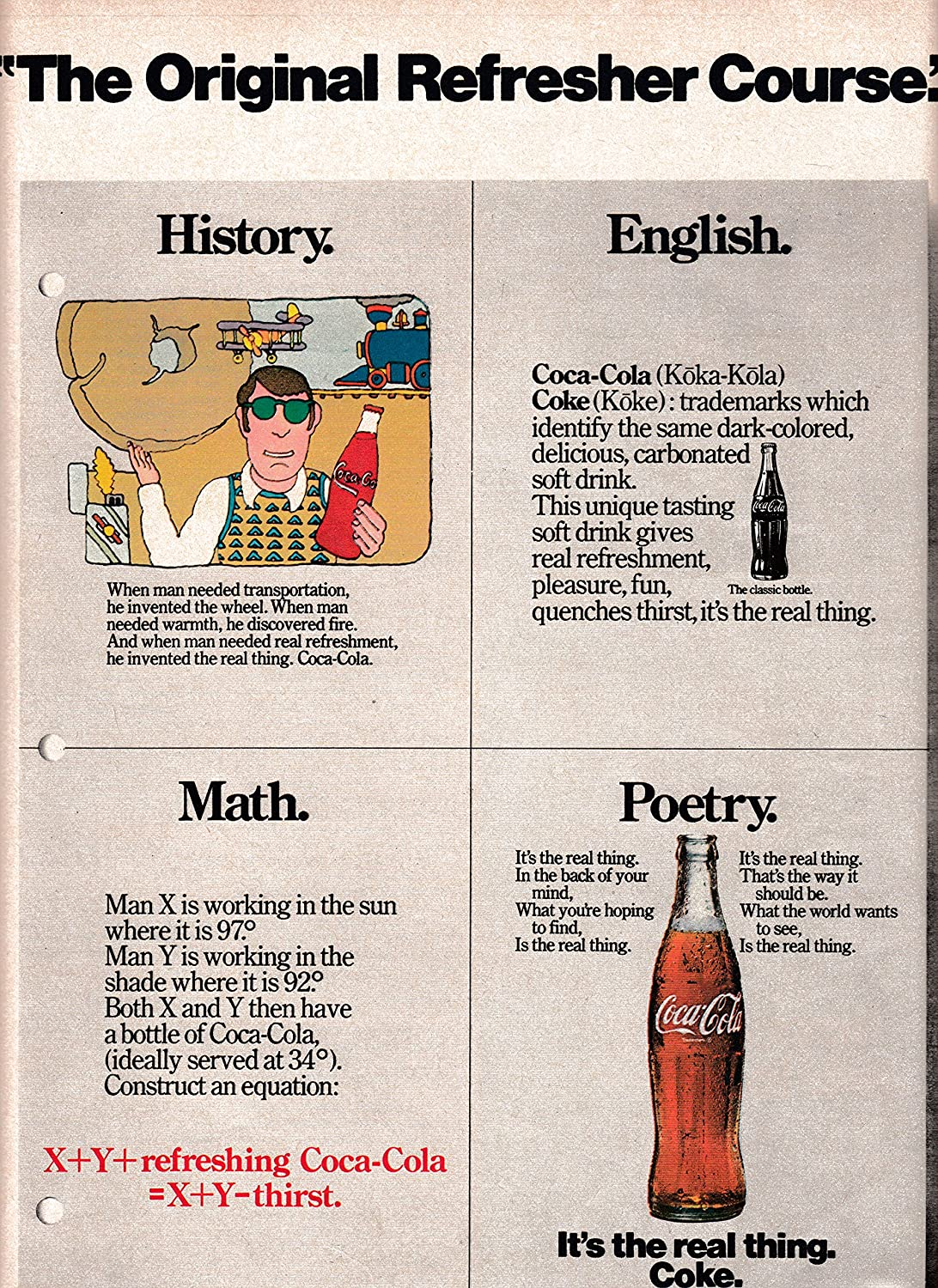 Amazon.com : 1973 Coke Coca-Cola Refresher Course-History-English ...