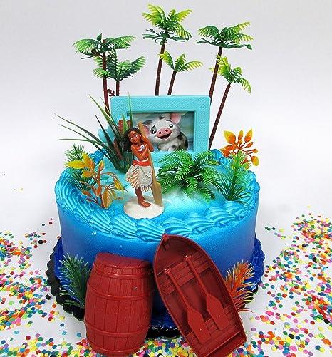 Amazoncom MOANA Tropical Themed Moana Birthday Cake Topper Set