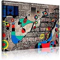 Cuadro Moderno en Lienzo Estilo Abstracto Estilo Miró