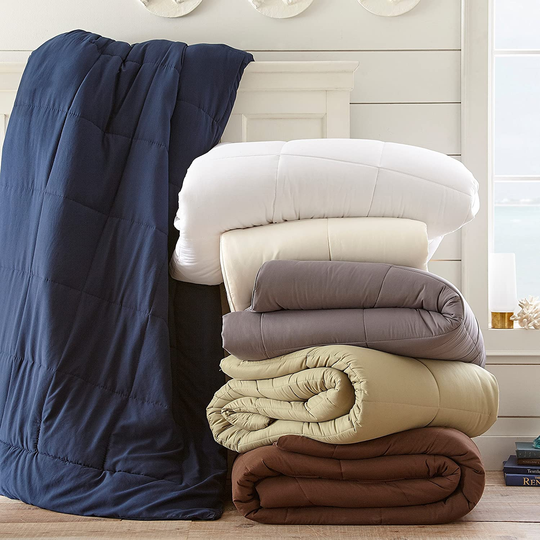 Ivory California King ienjoy Home IEH-COMFORTER-KING-CREAM Home Collection Premium Luxury Down Fiber Comforter
