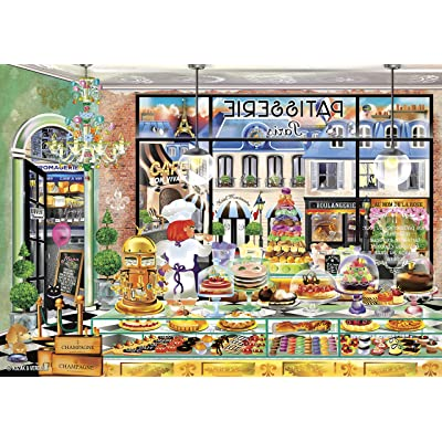 Buffalo Games - Wanderlust Collection - Paris Patisserie - 300 Large Piece Jigsaw Puzzle: Toys & Games