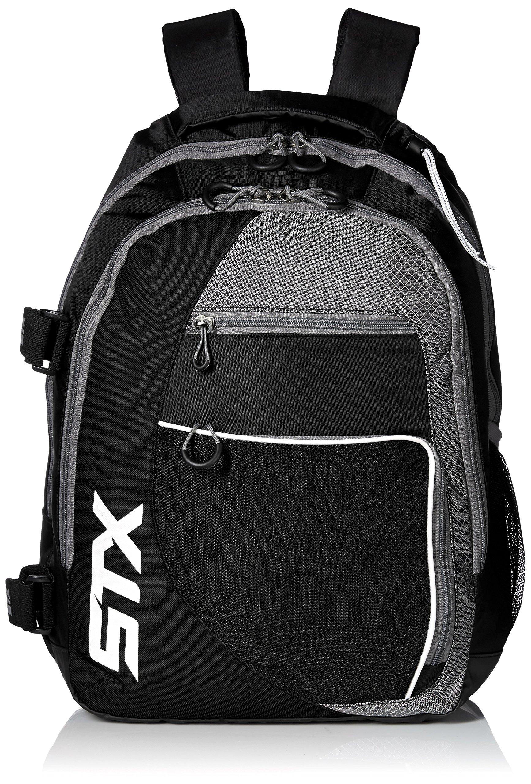 STX Lacrosse Sidewinder Lacrosse Backpack, Black by STX (Image #1)
