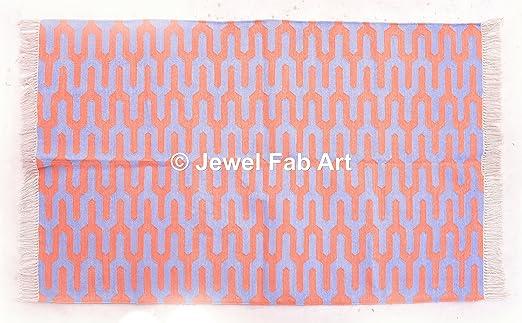 jewel fab art (5X3 Alfombra de algodón Tejida a Mano India ...