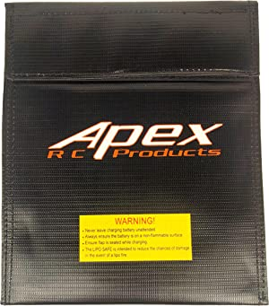 Apex Large Lipo Battery Bag Fire Resistant for Safe Charging & Storage - 180mm x 220mm RC Products #8078