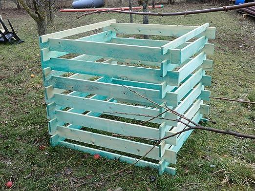 Elmato 14855 Madera Kom Póster compostador impregnada 120 x 120 x ...