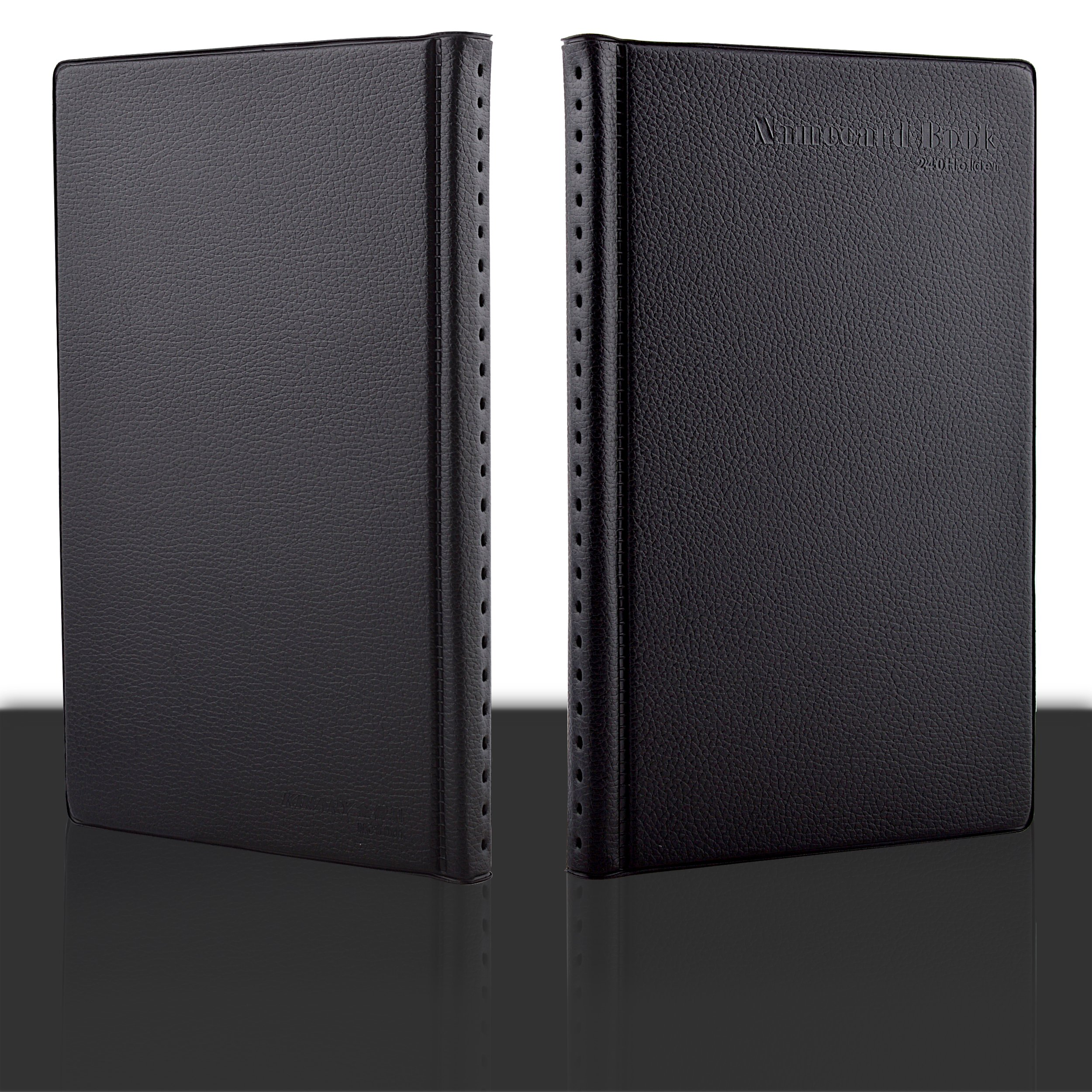 Maxgear professional pu leather business card book holder journal advanced material business card book in black color is made from high quality leather features luxurious and smooth texture 100 brand new dimensions reheart Image collections
