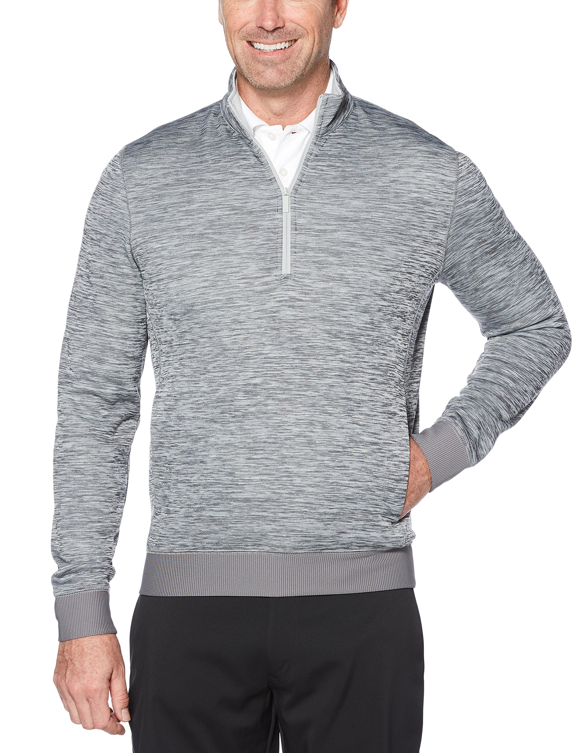 Callaway Men's Water Repellent 1/4 Zip Golf Pullover, Medium Grey Heather, 2X-Large by Callaway