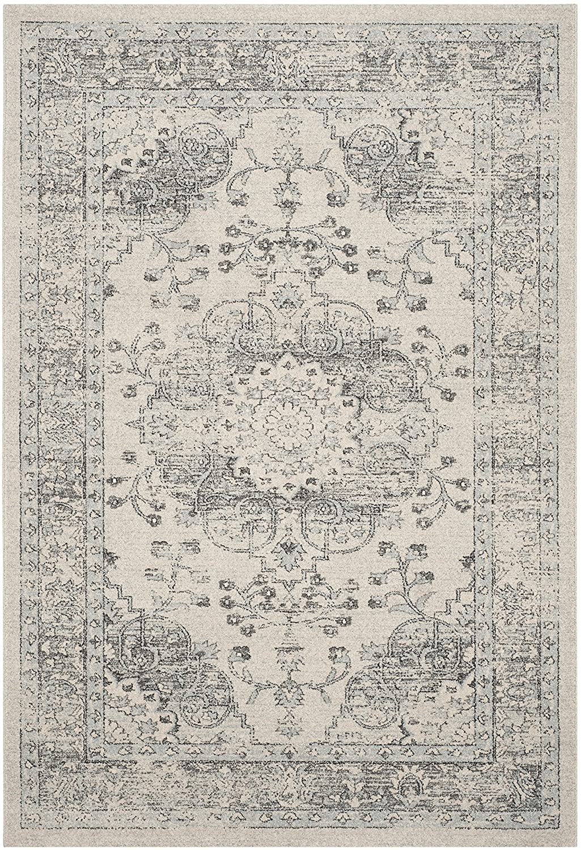 Safavieh Flora gewebter Teppich, CAR271A, Beige   Blau, 154 X 228  cm