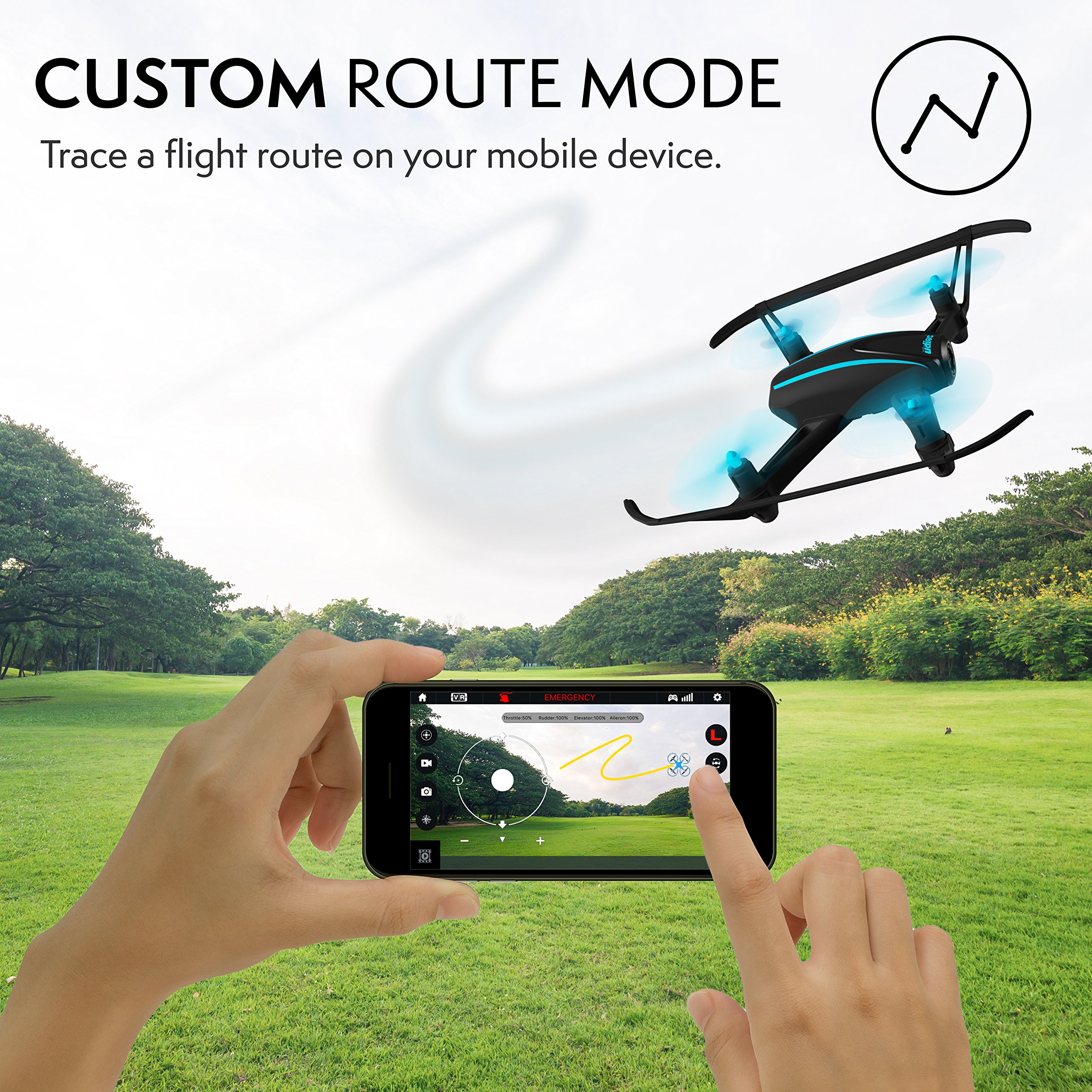 Force1 HD Drone with Camera – RC Camera Drones for Kids & Pros - U34W Dragonfly Drone with Camera Live Video, Altitude Hold & Wi-Fi FPV - Easy to Fly Quadcopter Drones for Beginners by Force1 (Image #8)