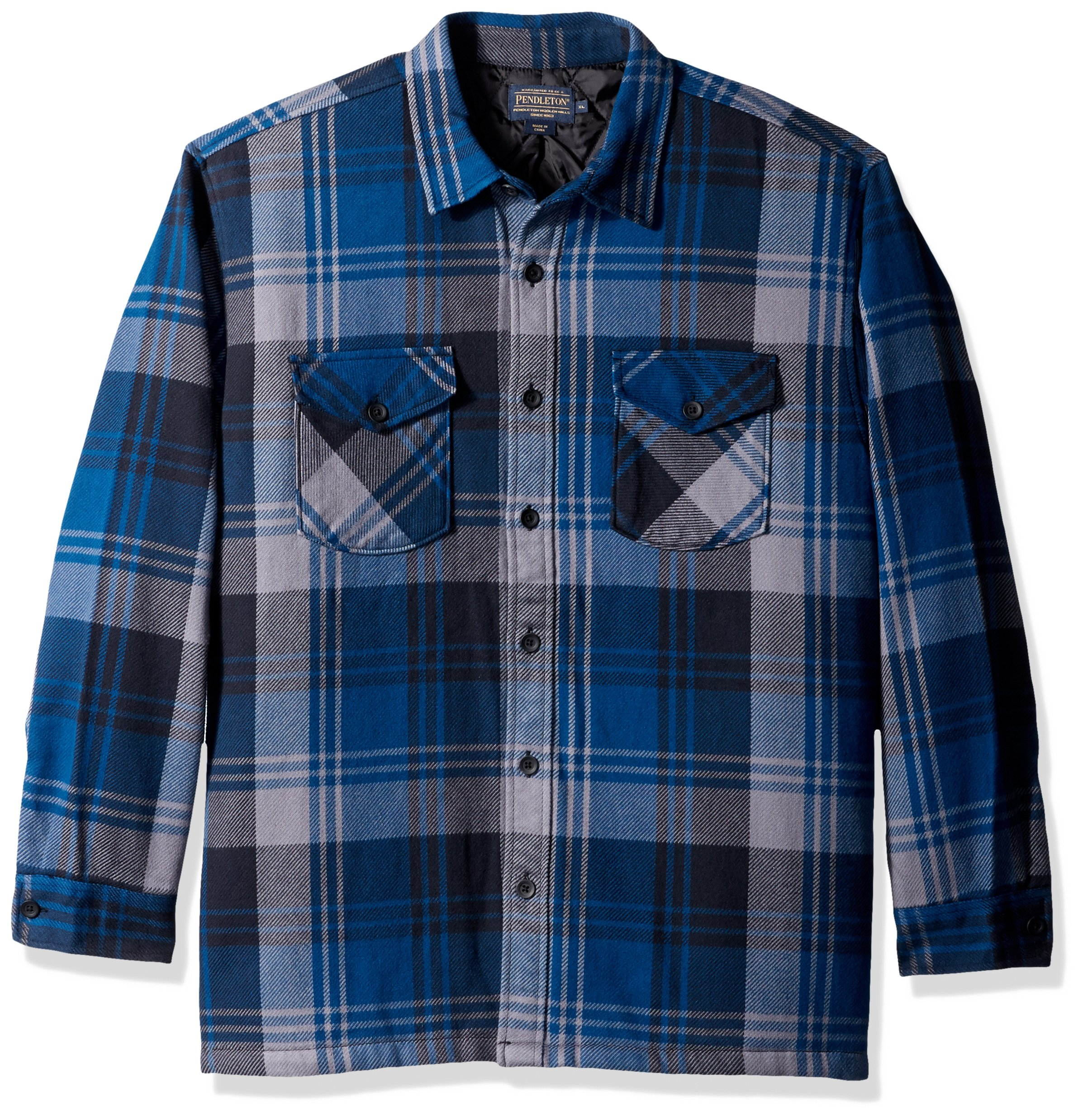 Pendleton Men's Lakeside Shirt Jacket,Colbalt Blue Plaid,XX-Large by Pendleton