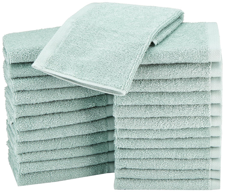 AmazonBasics Waschlappen aus Baumwolle, 24er-Pack - Blütenrosa 24er-Pack - Blütenrosa ABWC-24PK-PP