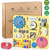 Busy Board - Busy Board for Toddlers - Sensory Board - Busy Board for Kids - Activity Board for Toddlers - Locks and Latches Activity Board - Baby Activity Board - Latches Wooden Activity Board