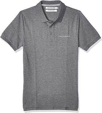 Calvin Klein Stretch Institutional Polo Slim Camisa para Hombre ...