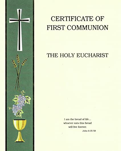 amazon com certificates make your own first holy communion