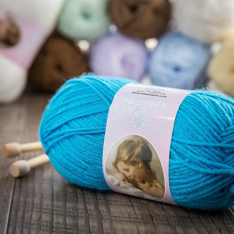 Mary Maxim Baby/'s Best Yarn-Blue 444-4