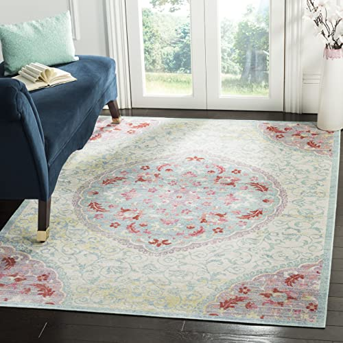 Safavieh Windsor Collection Abstract Area Rug, 4 x 6 , Light Grey Blue