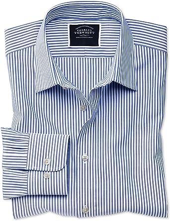 Charles Tyrwhitt Camisa Oxford Azul Real Slim fit sin Plancha ...