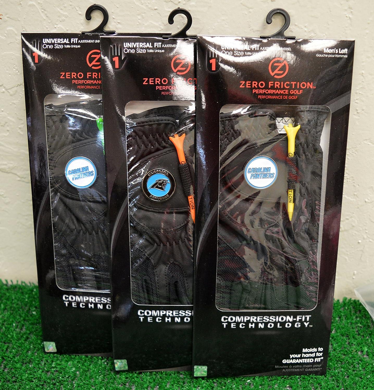 3ゼロ摩擦メンズLeft Handユニバーサルゴルフグローブ – Carolina Panthers – ブラック   B0784ZBTLK