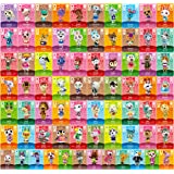 Animal Crossing New Horizons Game Rare Villager Amiibo Cards New Leaf,72 pcs NFC Game Cards with Crystal Case, Festival…