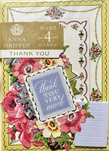 Amazon Com Anna Griffin Thank You Card Making Kit Makes 4 Cards