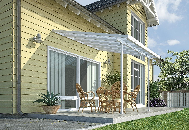 Chalet-Jardin Terraza de Aluminio Techo Aurora Blanco 3 x 3 m, 3x3.05, 701691: Amazon.es: Jardín