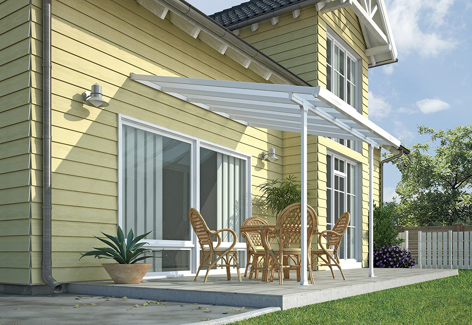 Amazing Palram Pergola Patio Cover Feria 3 X 3.05m With Robust Structure For  Year Round Use   White: Amazon.co.uk: Garden U0026 Outdoors