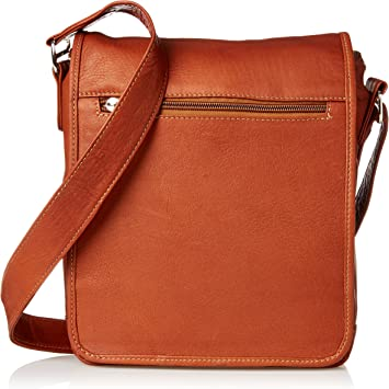 Saddle One Size Piel Leather Small Vertical Messenger