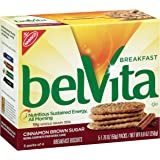 belVita Breakfast Biscuits, Cinnamon Brown Sugar, 5 Count Box, 8.8 Ounce (Pack of 6)