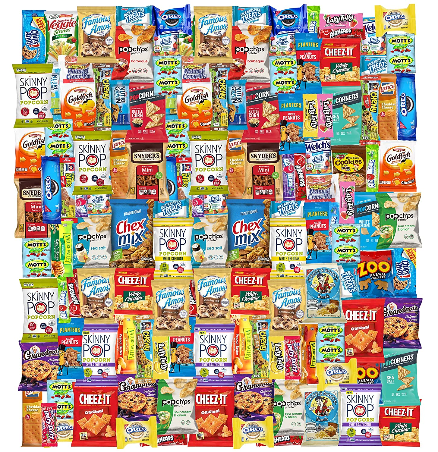 Care Package (150) Variety Snacks Gift Box Bulk Snacks - College Students, Military, Work or Home - Over 9 Pounds of Snacks! Snack Box
