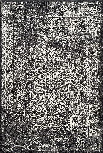 Safavieh Evoke Collection EVK256R Vintage Oriental Black and Grey Area Rug 4' x 6'