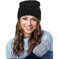 EGOGO Winter Chunky Soft Beany Skull Cap Oversized Baggy Trendy Thick Knit Beanie Skull Hat for Men and Women E601-7