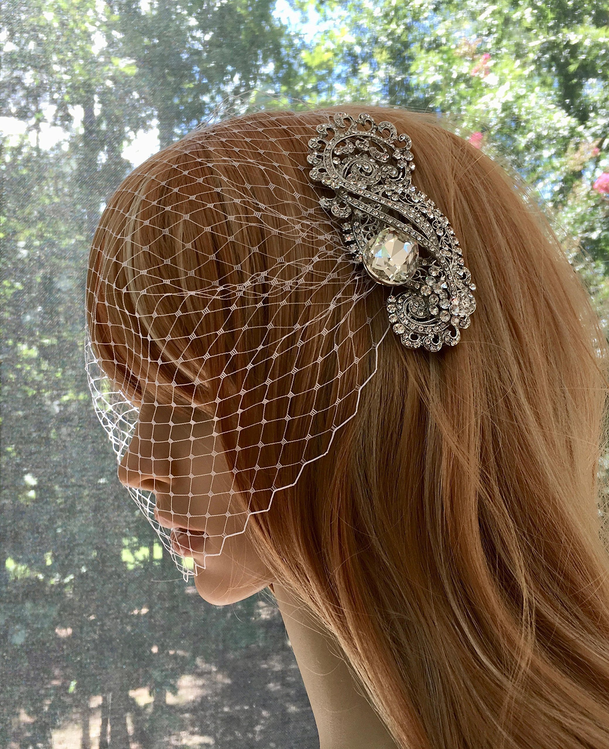 Bridal Wedding Veil, Bandeau Wedding Veil, Birdcage Wedding Veil