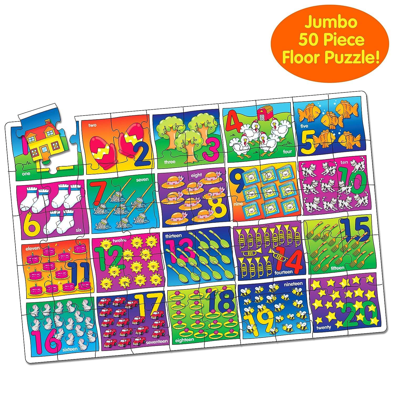 amazon com the learning journey jumbo floor puzzles number floor