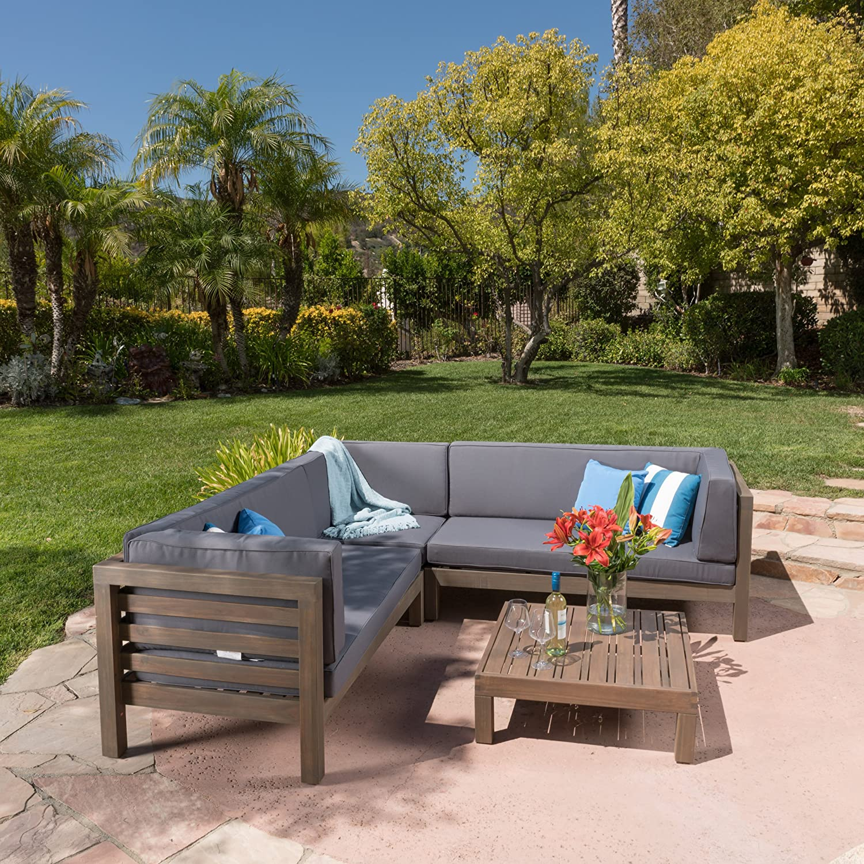Amazon Ravello Outdoor Patio Furniture 4 Piece Wooden