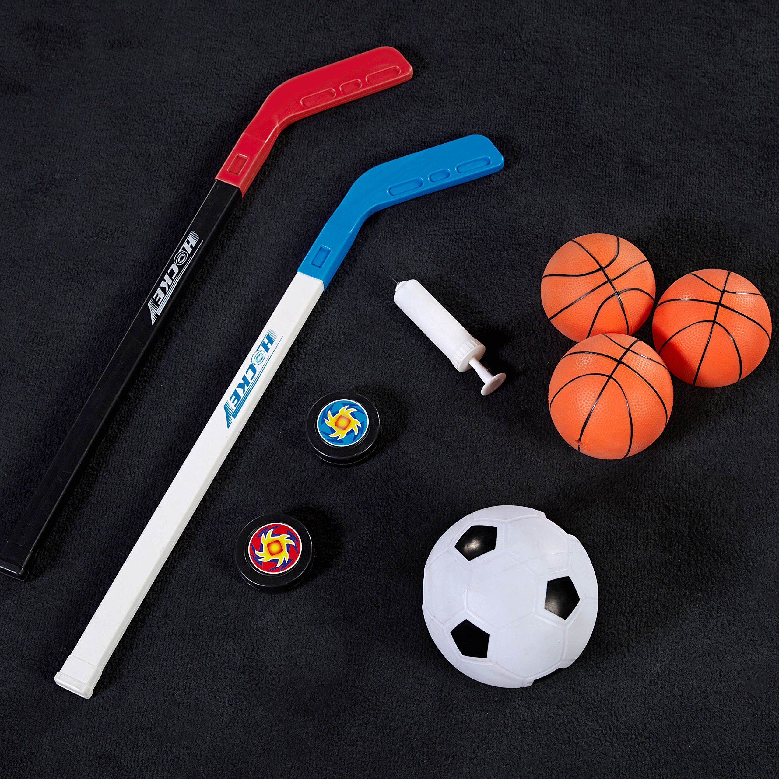 MD Sports BBG019_067M 4 in 1 Junior Basketball Game (Basketball, Soccer, Boxing & KNEE Hockey), Blue by MD Sports (Image #11)