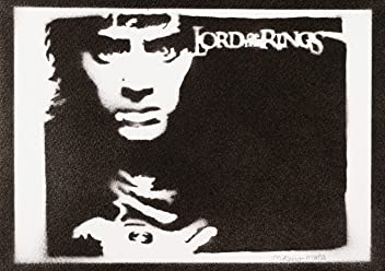 Frodo Baggings The Lord Of The Rings Poster Handmade Graffiti Street Art - Artwork