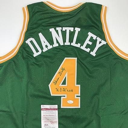 Autographed Signed Adrian Dantley quot HOF 2008 quot  Utah Green Basketball Jersey  JSA COA ad09e43a2