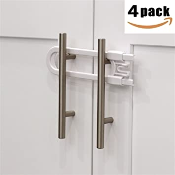 Amazon Child Safety Sliding Cabinet Locks 4 Pack Baby