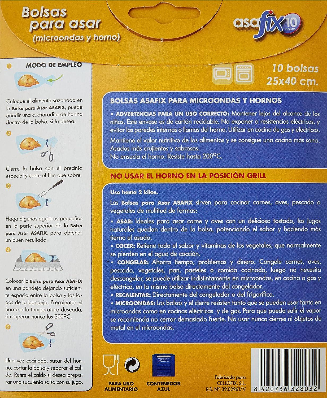 Asafix bolsas asar - paquete de 10 unidades -: Amazon.es ...