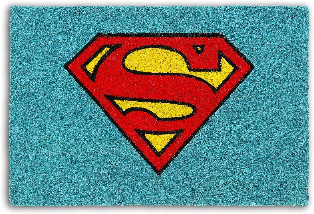 Zerbino superman excelsa , fibra di cocco, azzurro, 40x60x1.5 cm 62464
