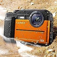"Panasonic DC-TS7D Lumix TS7 Waterproof Tough Camera, 20.4 Megapixels, 4.6X Zoom Lens, USA, with 3"" LCD, Orange"