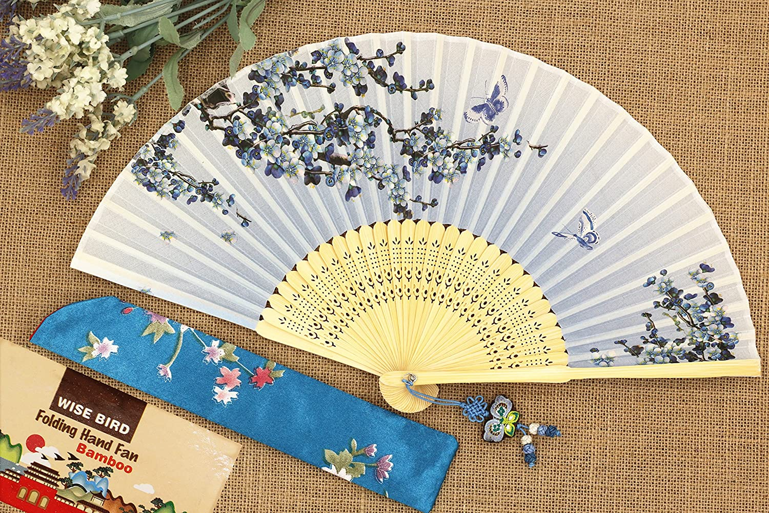 Amazon.com: Wise Bird Chinese Fan Japanese Folding Hand Fan ...