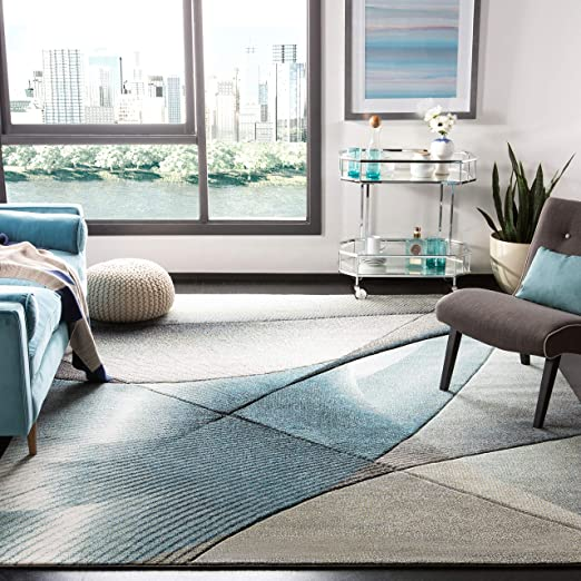 Amazon Com Safavieh Hollywood Collection Hlw715d Grey And Teal